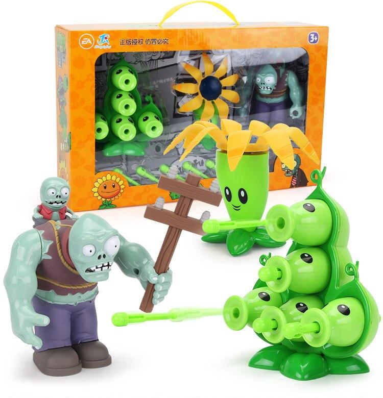 Plants Vs. Zombies Pvz Big Zombie The Building Blocks  Figures Diy Model Education Toys  For Children Gift