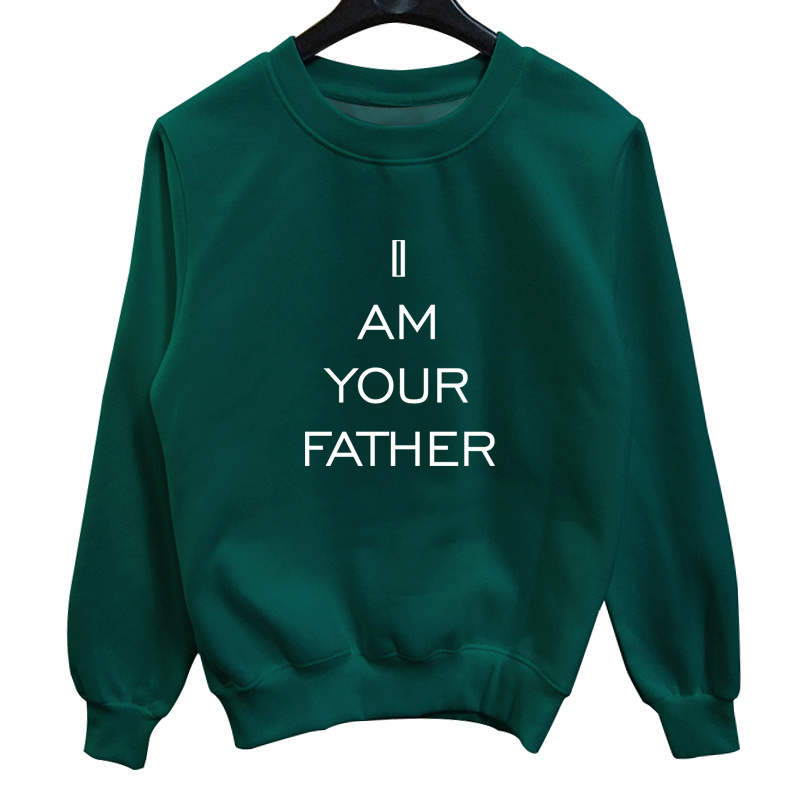 La MaxPa I am your father 2018 new fashion Men Jumper Outfits sweatshirt character printed crewneck hoodies sweats Casual Cotton