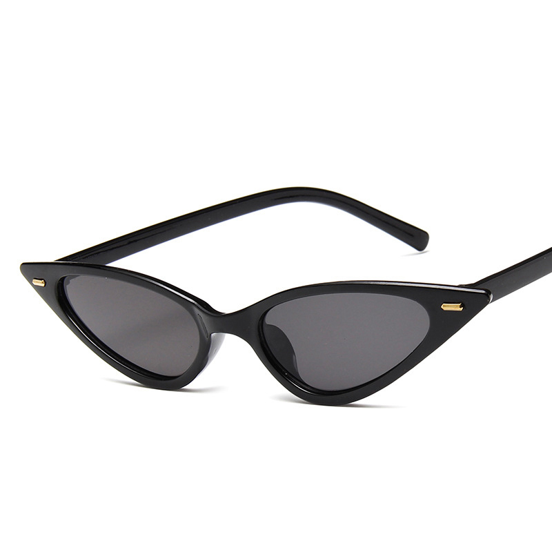 8acad9f9a844 2019 Small Cat Eye Sunglasses Women New Sexy Cute Rivet Red Black Triangle  Cateye Sun Glasses For Men Female Cheap Eyegalss-in Sunglasses from Apparel  ...