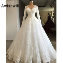 Awishwill Long Sleeve Wedding Dress 2019 Floor Length