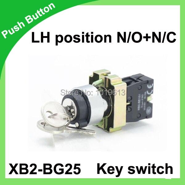 Ключ переключатель 2 позиции с ключевые оставаться переключатель N/O + N/C 22 мм Push кнопка XB2-BG25