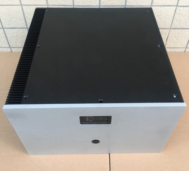 Mono class A pure power amplifier full aluminum Case chassis 320mm*135mm*329mm 320*135*329mm