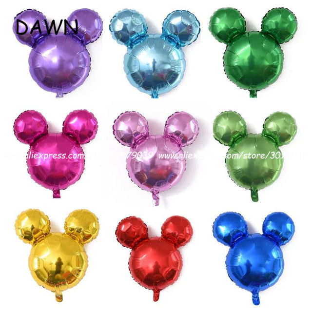 10pcs Lot 18Inch Mickey Head Shape Balloons Minnie Mouse Toys Cartoon Birthday