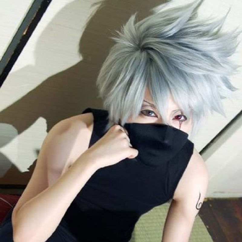 Image 1 - Anime Naruto Kakashi Hatake Cosplay Wig + Wig Cap-in Anime Costumes from Novelty & Special Use