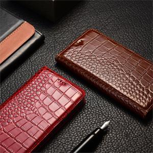 Image 3 - Krokodil Echtem Leder Fall Huawei honor 5a 5c 5x6 6a 6c 7 7a 7i 7x8 8c 8x9 9i 10 Plus Lite Pro ansicht max Flip Stand abdeckung
