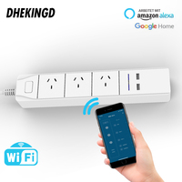 Wifi USB Power Strip Smart AU Plug Overload Switch Surge Protector 3 Outlet 2 Port USB Charger 1.8m 10A wifi socket