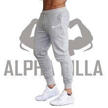 New Brand Print logo Gyms Men Joggers Casual Men Sweatpants Joggers Pantalon Homme Trousers Sporting Clothing