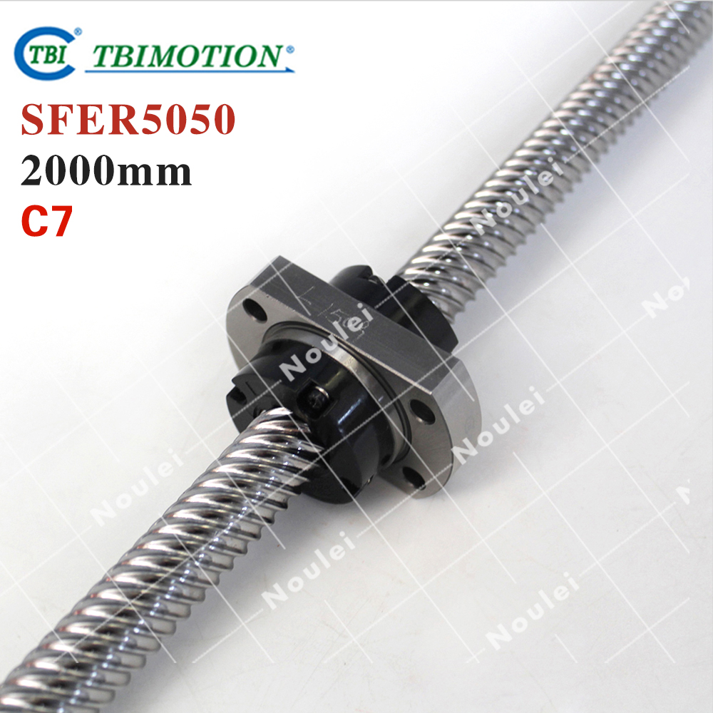 Taiwan TBI 5050ballscrew 2000mm lead 50mm pitch with SFE5050 nut 4 rows steel ball High speed screw for CNC kit горелка tbi 17 dx25 4 м вентильная in 176 196 206lvp