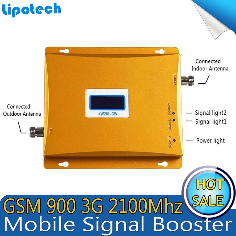 Lintratek GSM 3G Penguat Sinyal Seluler GSM 900 3G UMTS 2100 Dual - Aksesori dan suku cadang ponsel - Foto 3