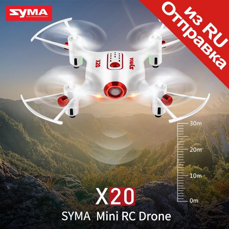 Syma oficial x20 mini drone RC quadcopter drones helicóptero Dron 4 canal modo headless altitud hold juguete avión para Niños