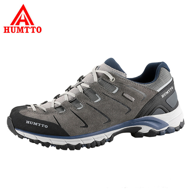 HUMTTO Men's Outdoor Hiking Shoes Fur Leather Waterproof Sneakers Male Mountain Climbing Non-slip Hiking Shoes Plus Size EUR 48