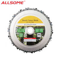 ALLSOME 9 Inch 18 Teeth Chain Plate Angle Grinding Chain Disc Wheel Wood  Carving Disc for Angle Grinder HT2615