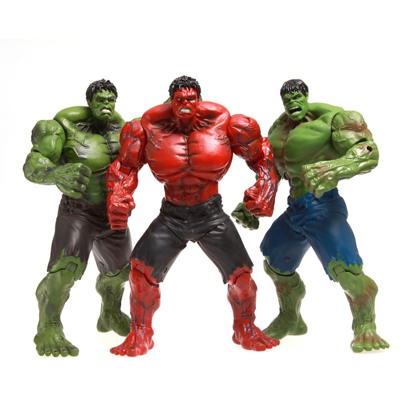 1 Pcs 25 CM Super Hero The Avengers Movie Marvel Giant Incredible Hulk Action Figures Red Toys PVC Collectable Model Movable Boy