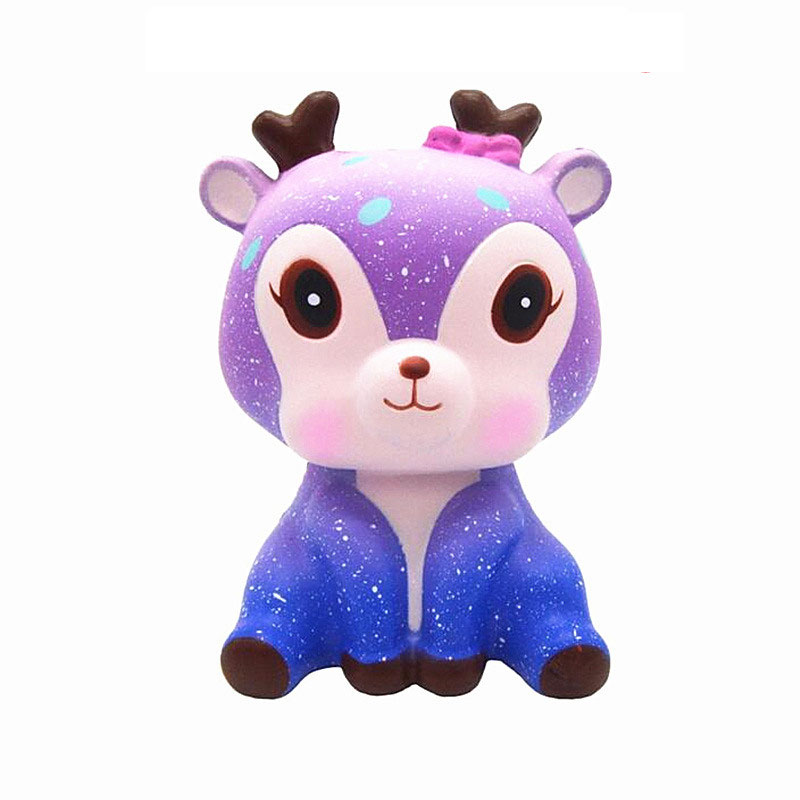 New Squishy Toy Simulation Moon Unicorn Shape Slow Rebound PU Decompression Toy Squishy Slow Rising Anti Stress Reliever Toy цена