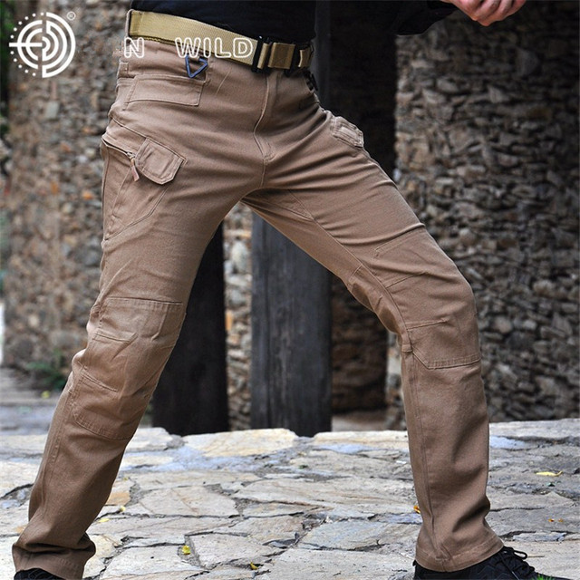 Pants Spring Autumn Military Archon Europe US Russia  Police Cotton Blend