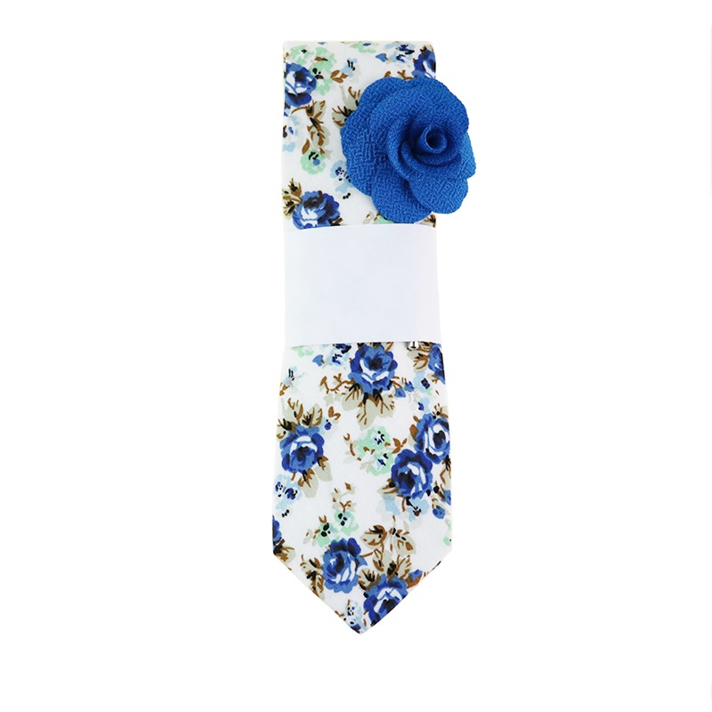 Mantieqingway 6cm עניבות רזה עבור גברים נשים אופנה מקרית פרחוני עניבה Blue Neckties חתונה עניבה עניבה סלים Gravatas אביזרים