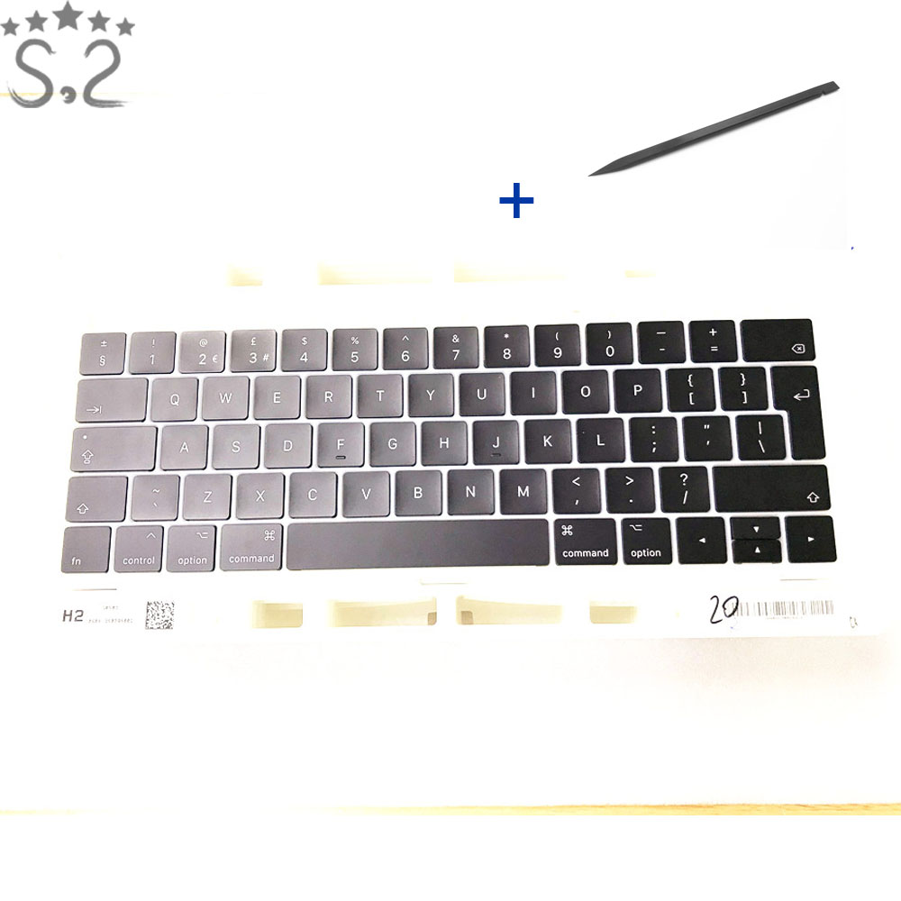 UK Keycap Keycaps For Macbook Pro Retina 13 15 A1706 A1707 Laptop Keyboard Key Replacement 2016 2017 Year image