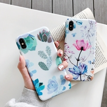 Fashion Art Flowers Plants Phone Case For iPhone XS Max Case For iPhone X XR 6 6S 7 8 Plus Soft Back Cover IMD Cases Retro Capa
