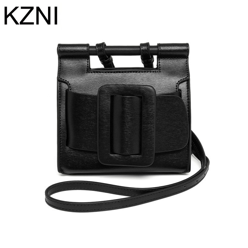 KZNI Genuine Leather Purse Crossbody Shoulder Women Bag Clutch Female Handbags Sac a Main Femme De Marque L041401 kzni tote bag genuine leather bag crossbody bags for women shoulder strap bag sac a main femme de marque luxe cuir 2017 l042003