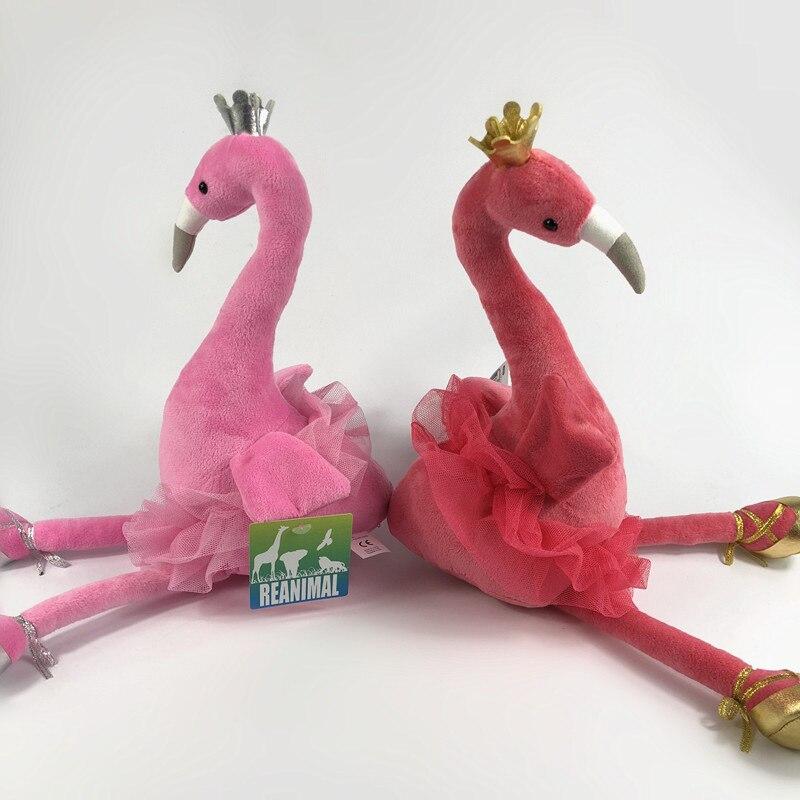 25cm Simulation Swan Flamingo Plush Toy Cute Wildlife Bird Stuffed Animals Doll Baby Girls Kids Lover Children Christmas Gift flamingo plush toy pillow pink flamingo cushion baby girl princess room decoration kids doll girls gift home decorate