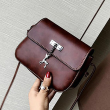 New fawn bag simple pure color single shoulder slant slant handphone bag leisure hanging pieces pocket