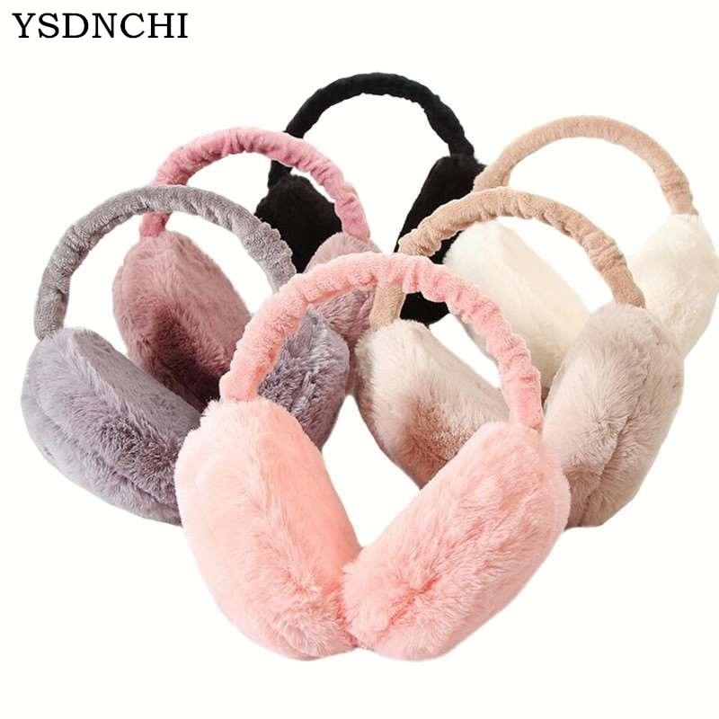 Warm Earmuffs For Women Imitation Rabbit Fur Winter Earmuffs Warm Cute Cotton Skiing Ear Warmers Christmas Gifts Fur Earmuffs