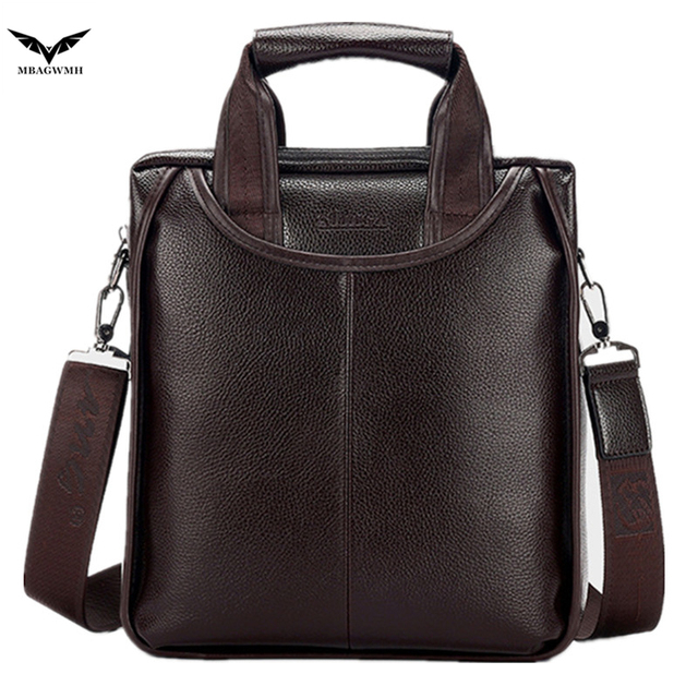 2016 Famous High End High Quality Leather Men Bag Business Casual Fashion Messenger Bag Crossbody Shoulder Bags Male Briefcase