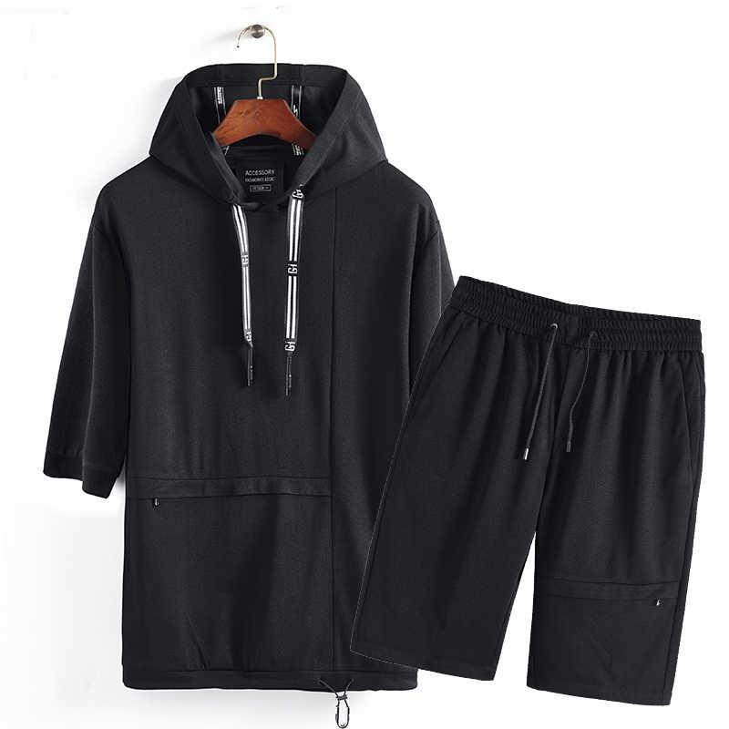 Футболка Топы И Футболки мужские черные рубашка комплект Для мужчин s Костюмы