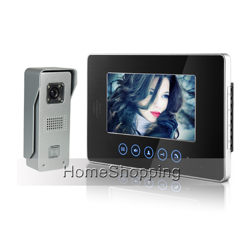 Brand New Wired 7 Touchkey Color Screen Video Door Phone intercom System 1 Monitor 1 Doorbell Camera FREE SHIPPING IN Stock free shipping brand new wired 7 color home video door phone doorbell intercom system 1 rfid access camera 1 monitor in stock