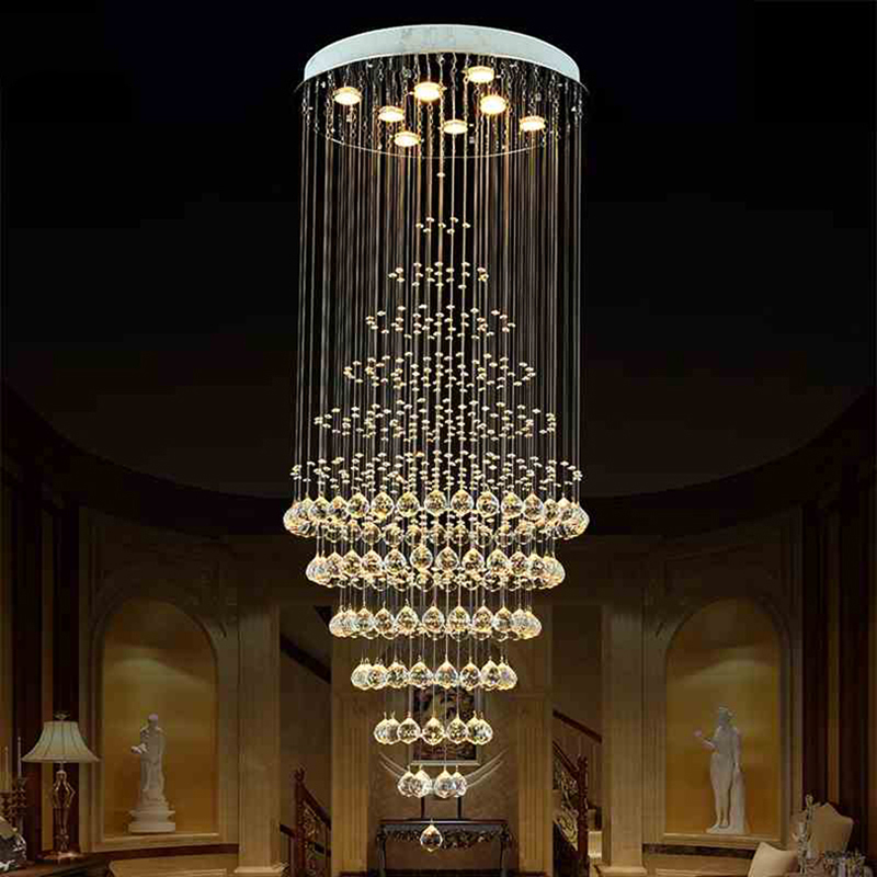 Led round crystal chandeliers light lamp fixtures for parlor hotel led round crystal chandeliers light lamp fixtures for parlor hotel hallway with warm or cool white vallkin in chandeliers from lights lighting on aloadofball Images