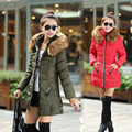 Snowimage 2016 New Fashion Winter Women Down Coat Jacket Warm Slim Woman Down Parka Real Raccoon Fur Winter Coat Women FB6039