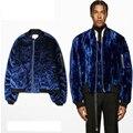 2017 New Velvet Ma1 Bomber Jacket Men Women Hip Hop Brand Swag Kanye West Men Thick Bomber Jackets And Coats Oversized Coats