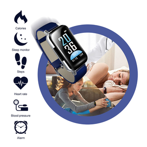 Image 4 - สร้อยข้อมือสมาร์ท LIGE สุภาพสตรีชุดหูฟังไร้สายบลูทูธสมาร์ทสร้อยข้อมือฟิตเนส Tracker Sphygmomanometer USB dData + กล่อง