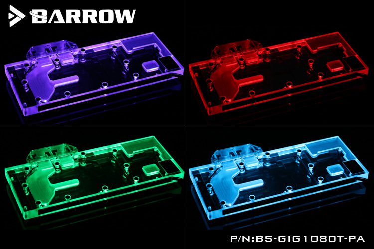 Купить с кэшбэком BARROW Full Cover Graphics Card Block use for GIGABYTE GTX1080TI-GAMING-11G / OC 11G GPU Radiator Block LRC RGB to AURA 4PIN