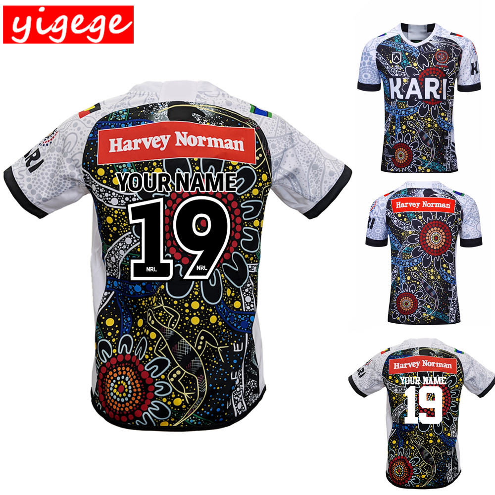 Custom names and numbers 2019 indigenous all stars rugby Jerseys League shirt indigenous home Rugby jersey shirts