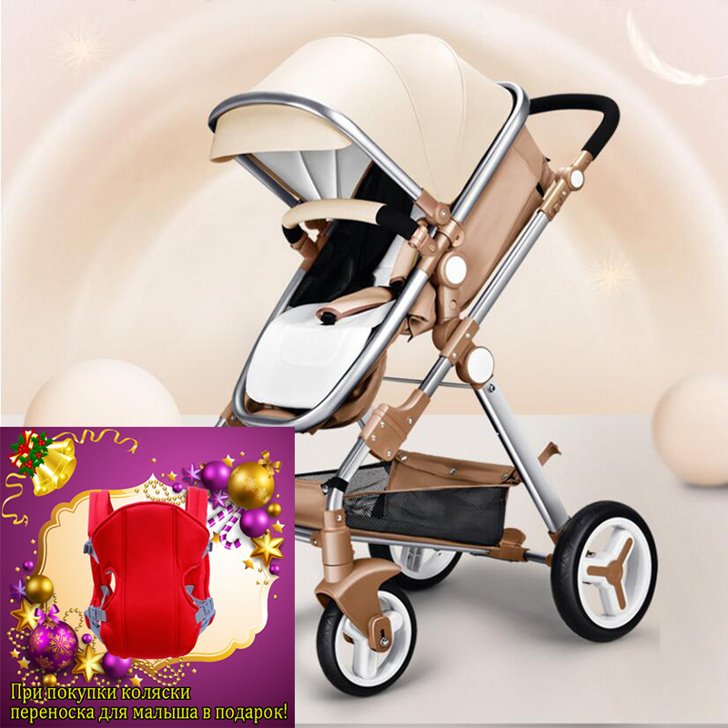 Baby trolleys  stroller high landscape can sit or lie shock winter children baby stroller two-way deck trolley free delivery