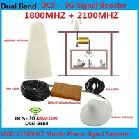 High Gain 3G DCS Cell Phone Signal Repeater 1800MHz 2100MHz mobile phone signal booster 3g 4g repeater signal amplifiers
