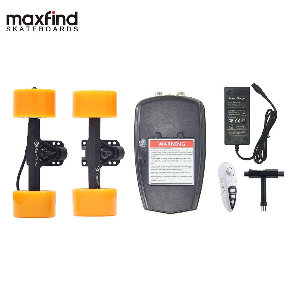 Maxfound Kit de planche à roulettes électrique bricolage à distance le plus léger du monde avec moteur à moyeu unique 600 W pour adultes et enfants