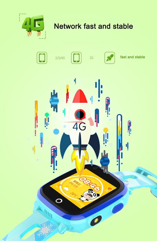 4G Camera GPS Watches WI-FI Kids Children Students Smart Wristwatch Sim Card/SOS/Video Call/ Monitor Tracker Location Waterproof 4