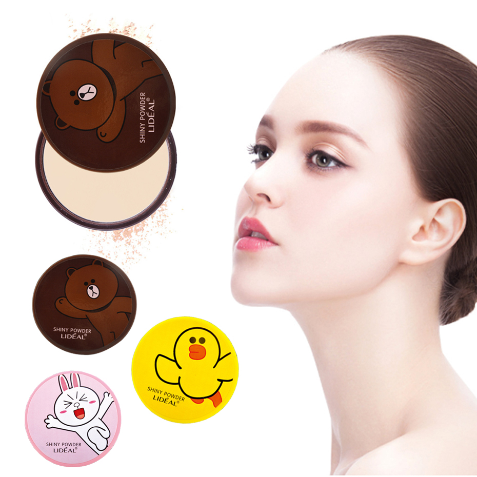 LIDEAL Professional Face Powder Mineral Pressed Powder Waterproof Oil-free Setting Powder Base Cosmetic Concealer Contour Makeup image