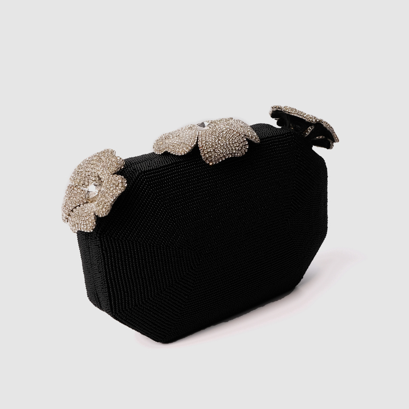 Local Focal Evening bag three flower diamonds handmade cluthes local focal party handmade pearl handbag