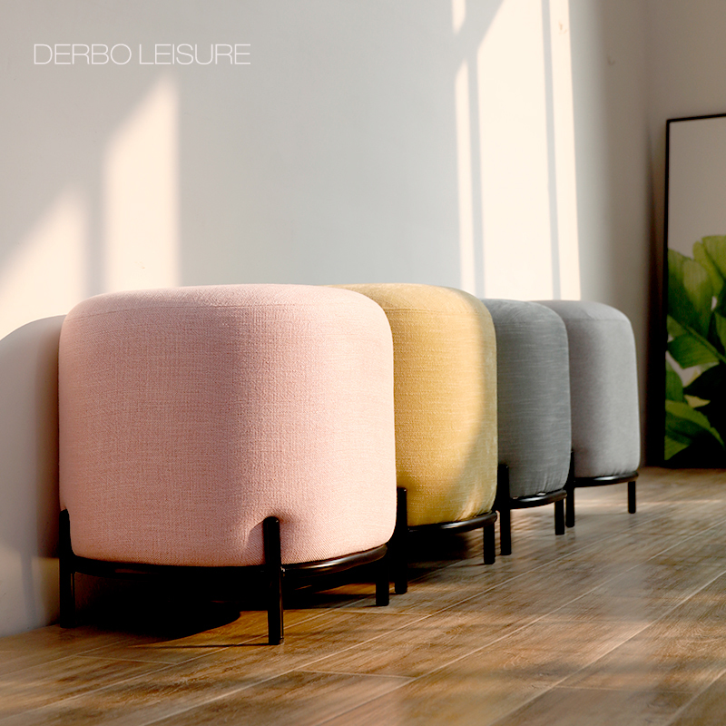 Modern Design Fashion Luxury Colorful Fabric Soft Cover Upholstered Living Room Sofa Side Shoes Changing Low Stool Bench 1pc Stools Ottomans Aliexpress