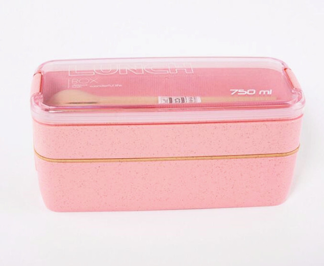 Pink Cheap bento boxes 304 stainless 5c6479e2ed5ee