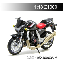 цена на Maisto 1:18 Motorcycle Models Kawasaki Z1000 BlackDiecast Plastic Moto Miniature Race Toy For Gift Collection
