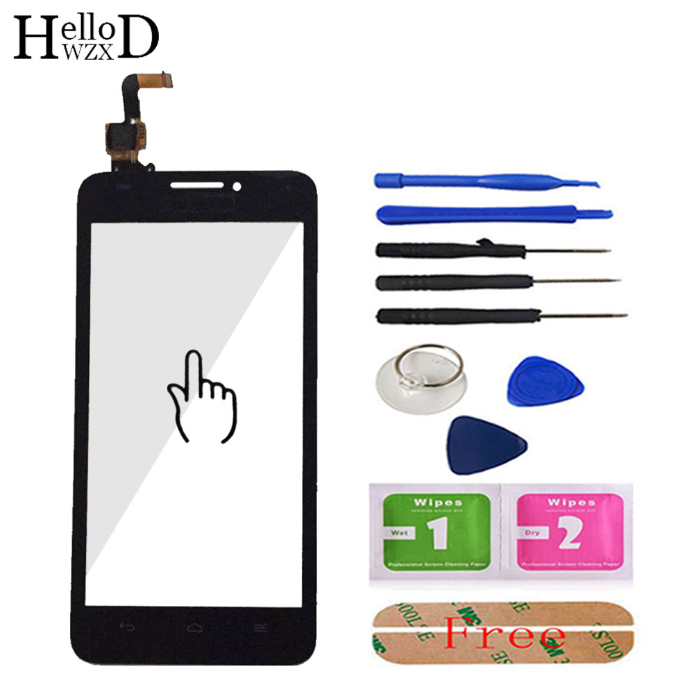 5.0'' Mobile Phone Touch Screen Glass For HuaWei Ascend G620 G620S Touch Screen Glass Digitizer Panel Lens Sensor Tools Adhesive