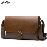 PU Leather Men S Shoulder Bag European Style Black Messenger Bags For Man Male Vintage Business