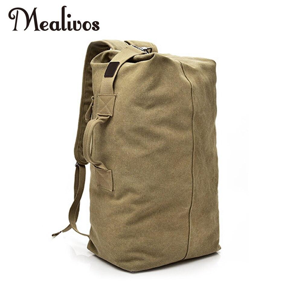 Mealivos Huge Travel Bag Large Capacity Men backpack Canvas Weekend Bags Multifunctional