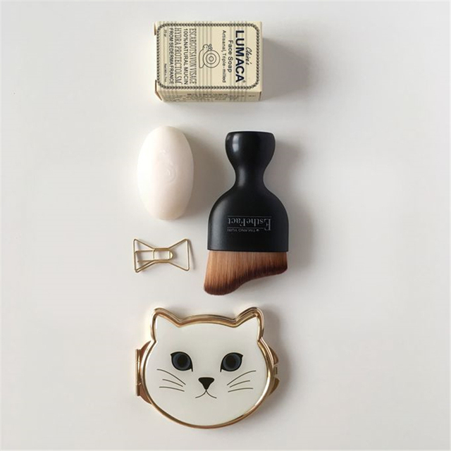 Lovely Cat Makeup Compact Mirror Pocket Cosmetic Mirror Hand Mirror Dropshipping Wholesale 3