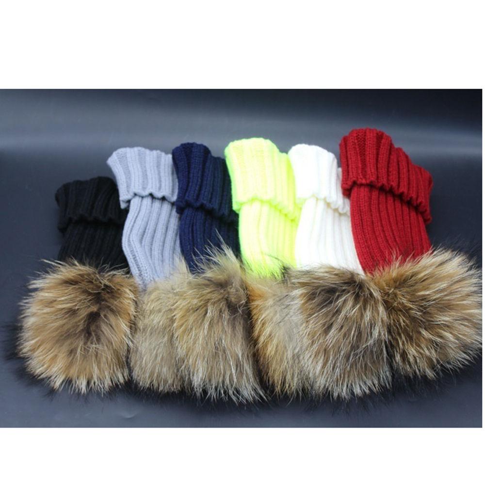 Pop Winter Raccoon Fur Hats Real 15cm Fur Pompom Beanies Cap Natural Fur Hat 1pc pop winter raccoon fur hats real 15cm fur pompom beanies cap natural fur hat 1pc