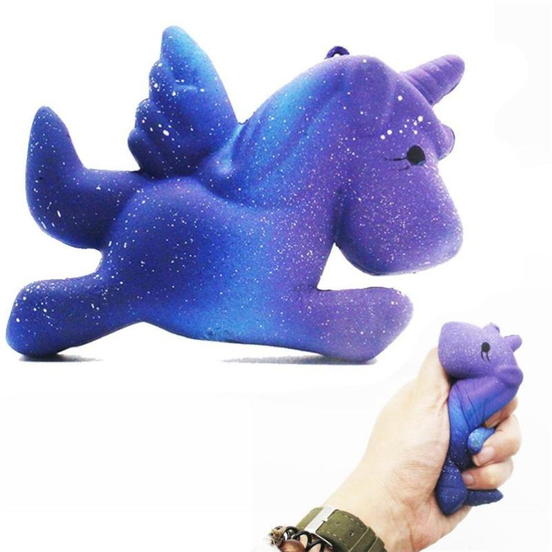 MUQGEW Galaxy Unicorn Squishy slime funny squishys brinquedos Slow Rising Cartoon Doll Cream Scented Stress Relief Toy